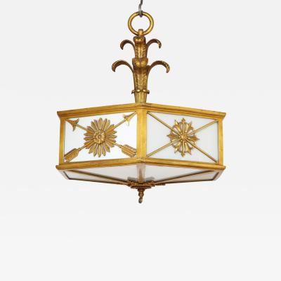 Edward F Caldwell Co A Hexagonal Ceiling Fixture by Caldwell