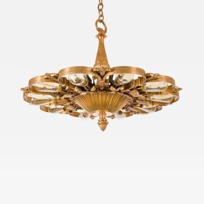 Edward F Caldwell Co E F Caldwell Bronze Neoclassical Chandeliers USA 1920s