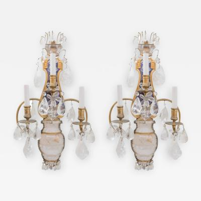 Edward F Caldwell Co E F Caldwell Grand Rock Crystal Sconces