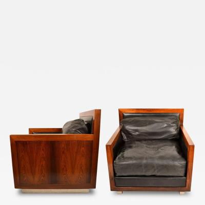 Edward F Knowles Rare Pair of Rosewhood Chairs by Edward F Knowles