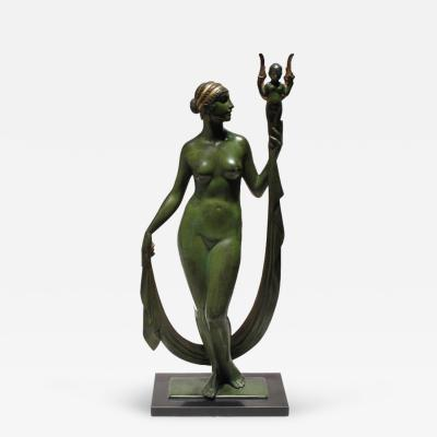 Edward Field Jr Sanford Bronze Nude by Edward Field Sanford