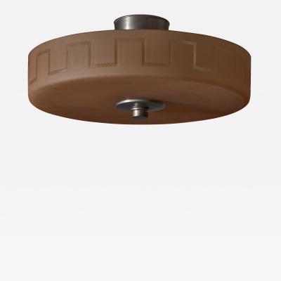 Edward Hald Edward Hald for Orrefors amber glass ceiling lamp