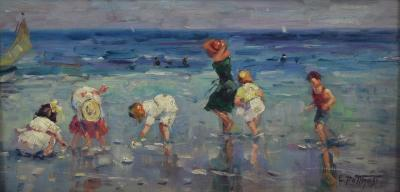 Edward Henry Potthast Beach Scene