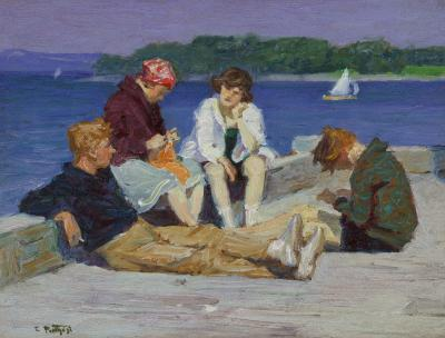 Edward Henry Potthast Beach Scene 4