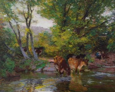 Edward Henry Potthast Cow Grazing
