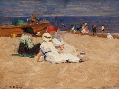Edward Henry Potthast Ladies in White Dresses