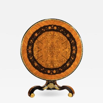 Edward Holmes AN EXCEPTIONAL 19TH C MARQUETRY CENTRE TABLE ATTRIBUTED TO EDWARD HOLMES BALDOCK