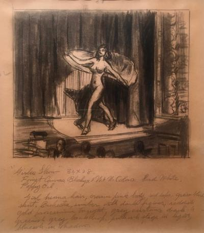 Edward Hopper Study for Girlie Show