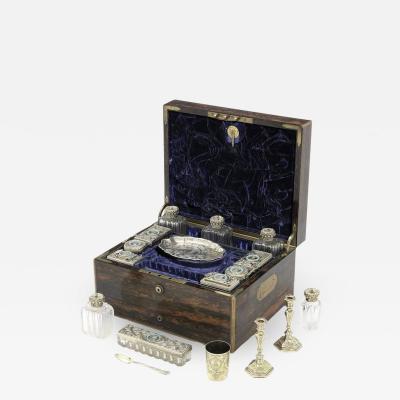 Edward John Barnard 19th Century English Travelling Dressing Case