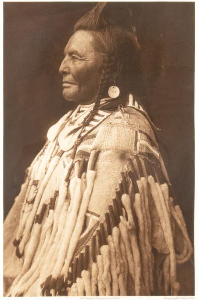 Edward S Curtis Edward S Curtis Shot In The Hand Apsaroke Photogravure Plate No 133