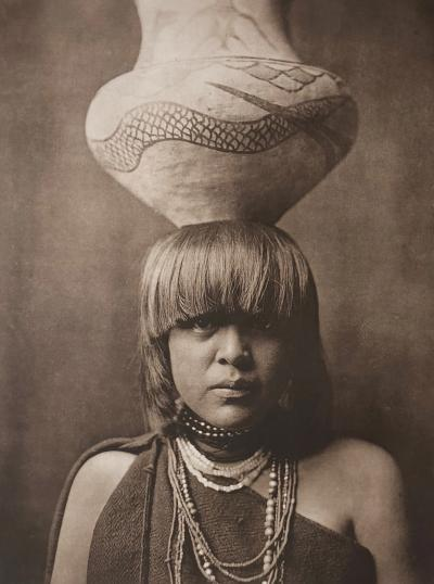 Edward Sheriff Curtis Edward Sheriff Curtis Girl and Jar San Ildefonso plate 590 photogravure