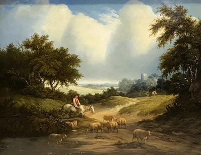 Edward Williams Wooded Landscape with Sheep
