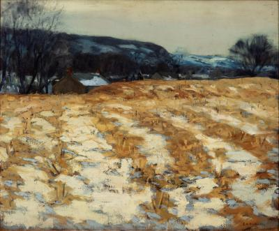 Edward Willis Redfield Cornfields in January