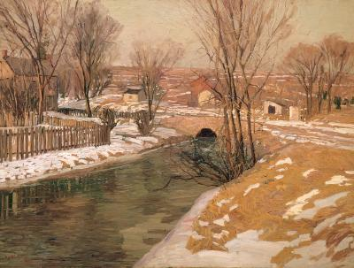 Edward Willis Redfield Melting Snow