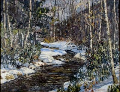 Edward Willis Redfield Woodland Brook