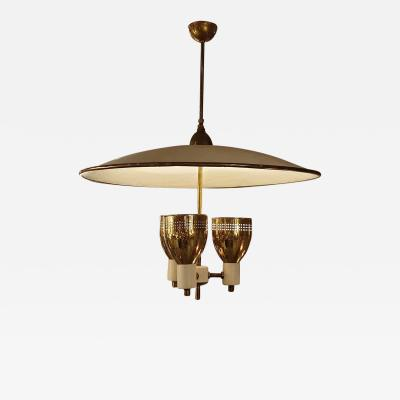 Edward Wormley Brass enamel Mid Century Modern chandelier E Wormley for Lightolier USA 1950s