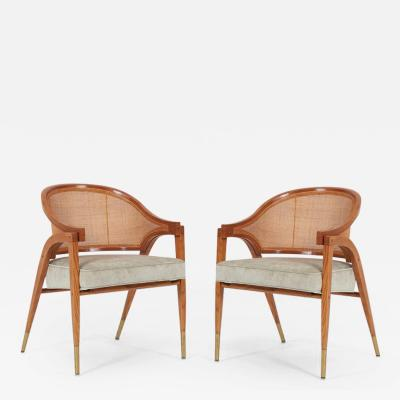 Edward Wormley Captains Armchairs Pair by Edward Wormley for Dunbar