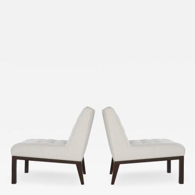 Edward Wormley Classic Slipper Chairs by Edward Wormley for Dunbar 1950s
