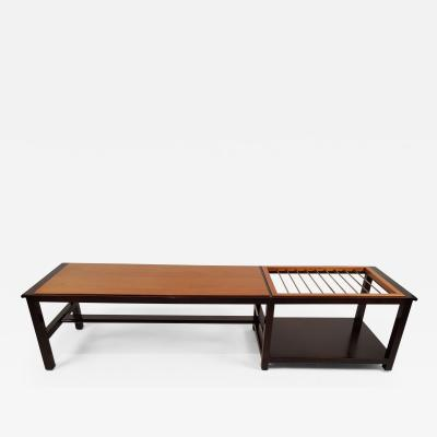 Edward Wormley Coffee Table with Magazine Rack by Edward Wormley for Dunbar