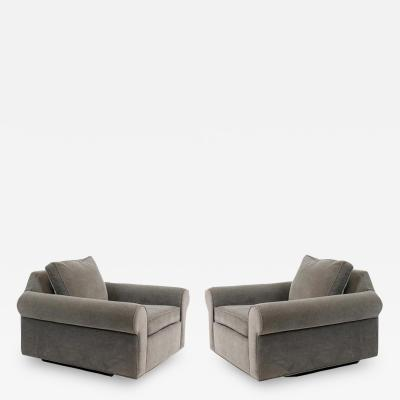 Edward Wormley Dunbar Big Texan Lounge Chairs by Edward Wormley
