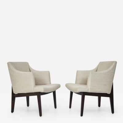 Perfect Edward Wormley Dunbar Bracket Back Armchairs By Edward Wormley