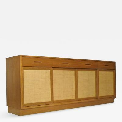 Edward Wormley Dunbar Credenza by Edward Wormley Bleached Mahogany Woven Cane 1950s