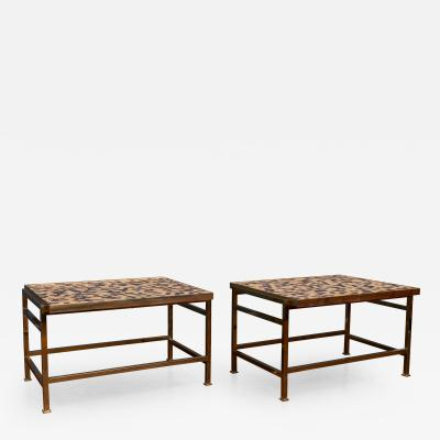 Edward Wormley Dunbar Murano Tile Top Side Tables