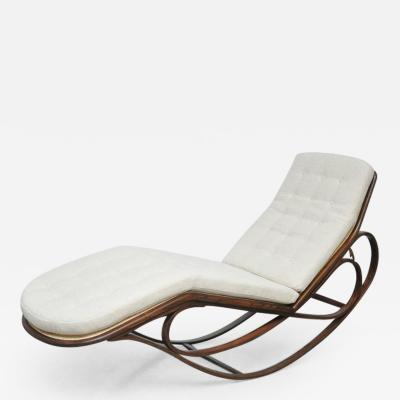 Edward Wormley Dunbar Rocking Chaise Lounge by Edward Wormley