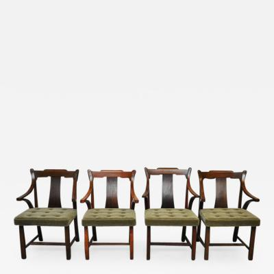Edward Wormley Dunbar Set of Four Greene Greene Chairs by Edward Wormley