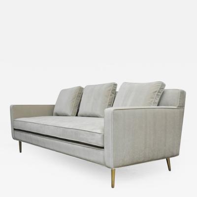 Edward Wormley Dunbar Sofa by Edward Wormley on Brass Legs