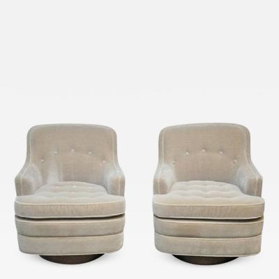 Edward Wormley Dunbar Swivel Chairs by Edward Wormley