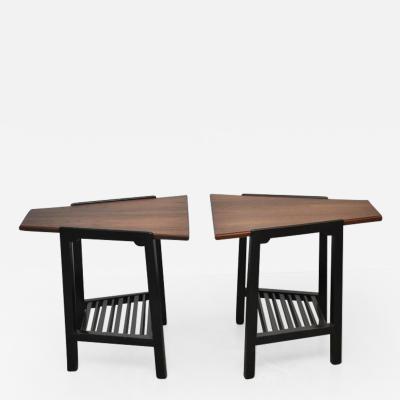 Edward Wormley Dunbar Wedge Side Tables by Edward Wormley