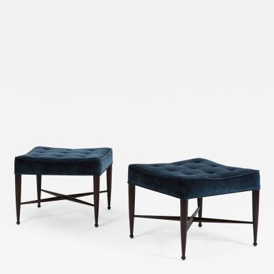 Edward Wormley Dunbar X Base Stools by Edward Wormley