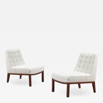 Edward Wormley Edward J Wormley Slipper Chairs for Dunbar