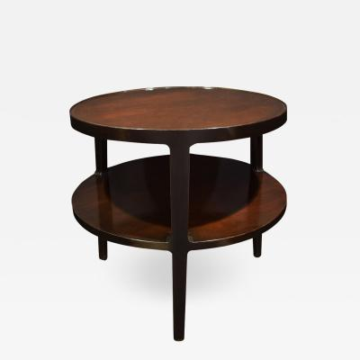 Edward Wormley Edward Wormley 2 Tier Round Side Table In Mahogany 1947