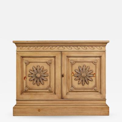 Edward Wormley Edward Wormley Carved Oak Bar Cabinet for Dunbar circa 1960