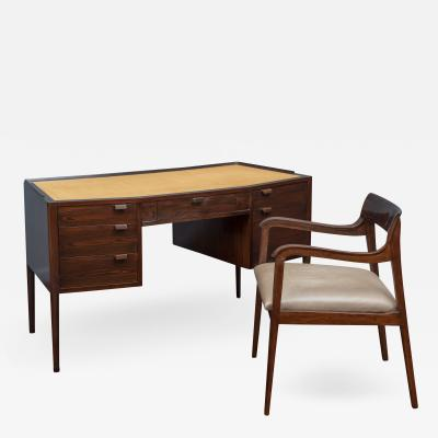 Edward Wormley Edward Wormley Desk for Dunbar with Armchair