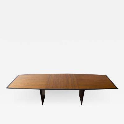 Edward Wormley Edward Wormley Dining Table for Dunbar Model 5965 Special Order Walnut Top 1950s