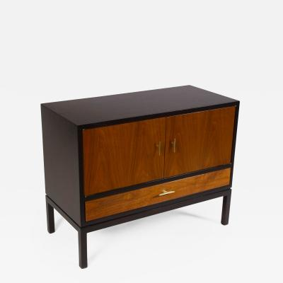 Edward Wormley Edward Wormley Dunbar Cabinet or Nightstand in Walnut Mahogany Brass Dunbar
