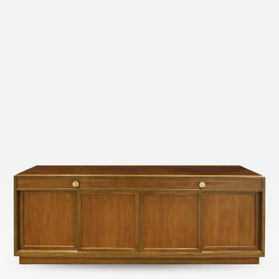 Edward Wormley Edward Wormley Elegant Credenza in Walnut and Mahogany 1960s signed