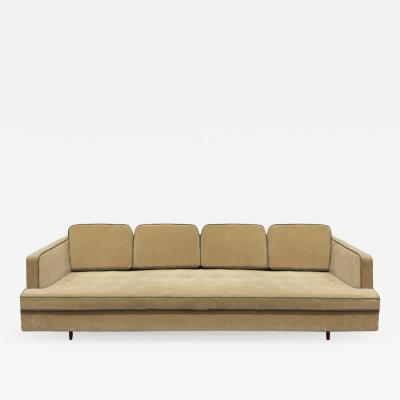 Edward Wormley Edward Wormley Elegant Sofa with Mahogany Legs 1950s