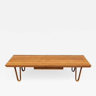 Edward Wormley Edward Wormley Long John Bench Coffee Table for Dunbar