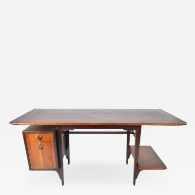 Edward Wormley Edward Wormley Model 5735 Walnut Rosewood Writing Desk for Dunbar 1957