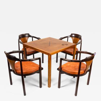 Edward Wormley Edward Wormley Table Chairs for Dunbar with Gertrude Otto Natzler Tiles