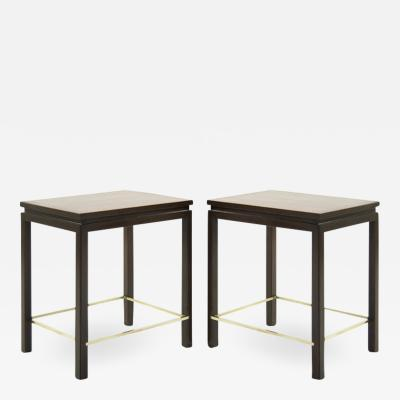 Edward Wormley Edward Wormley for Dunbar Brass Stretcher Side Tables 1950s