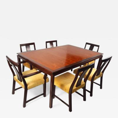 Edward Wormley Edward Wormley for Dunbar Formal Dining Table and Chairs