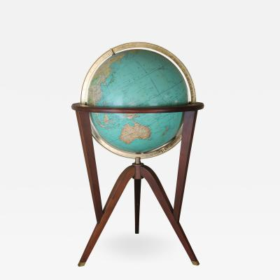Edward Wormley Edward Wormley for Dunbar Illuminated Globe on walnut stand