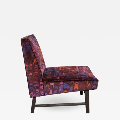 Edward Wormley Edward Wormley for Dunbar Lounge Chair with Jack Lenore Larsen Fabric 1950s