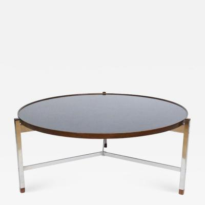 Edward Wormley Edward Wormley for Dunbar Rosewood Chrome and Black Micarta Coffee Table 1950s