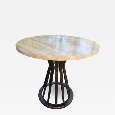 Edward Wormley Fabulous Edward Wormley for Dunbar Travertine Top Sheaf of Wheat Table